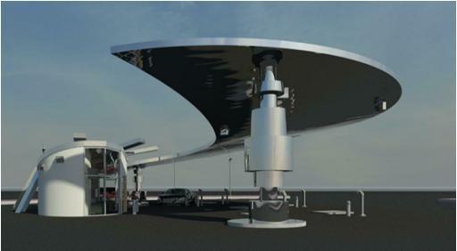 cng gas station design
