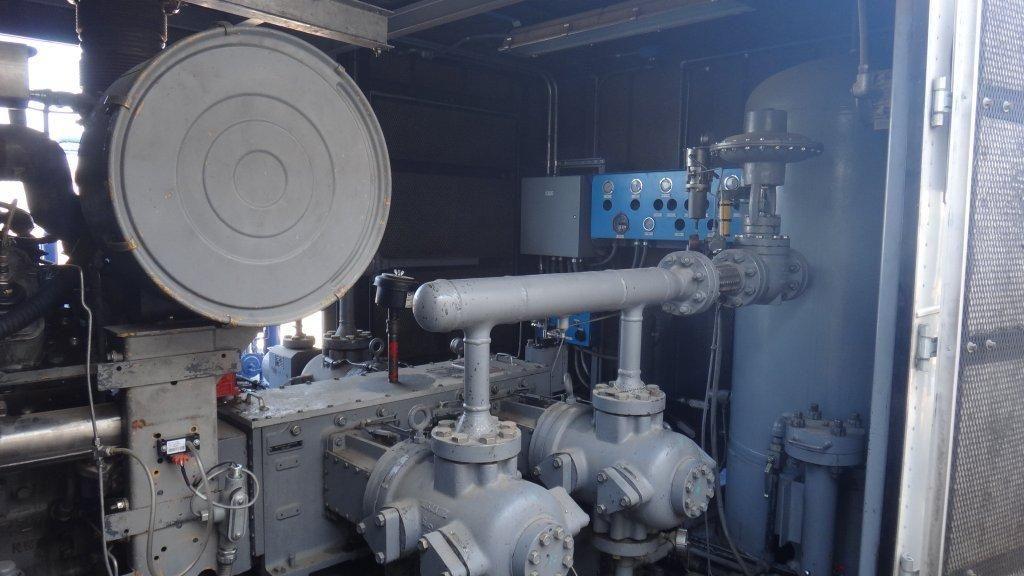Used CNG Ariel Compressor JGA-4 / CAT G3408TA - Gas Driven Pkg