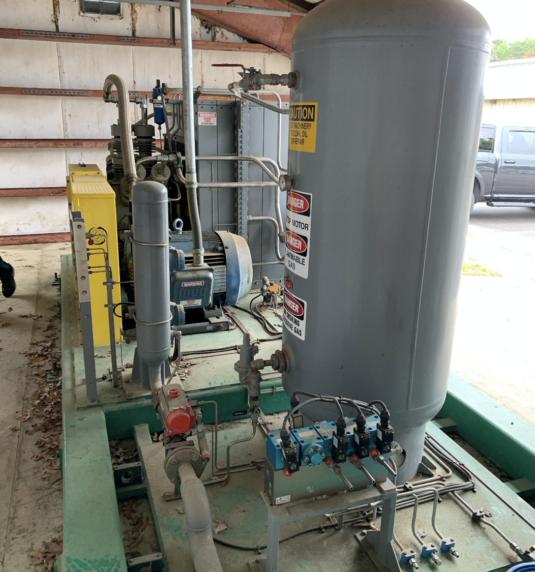 Complete 250 SCFM (125HP) CNG station equipment